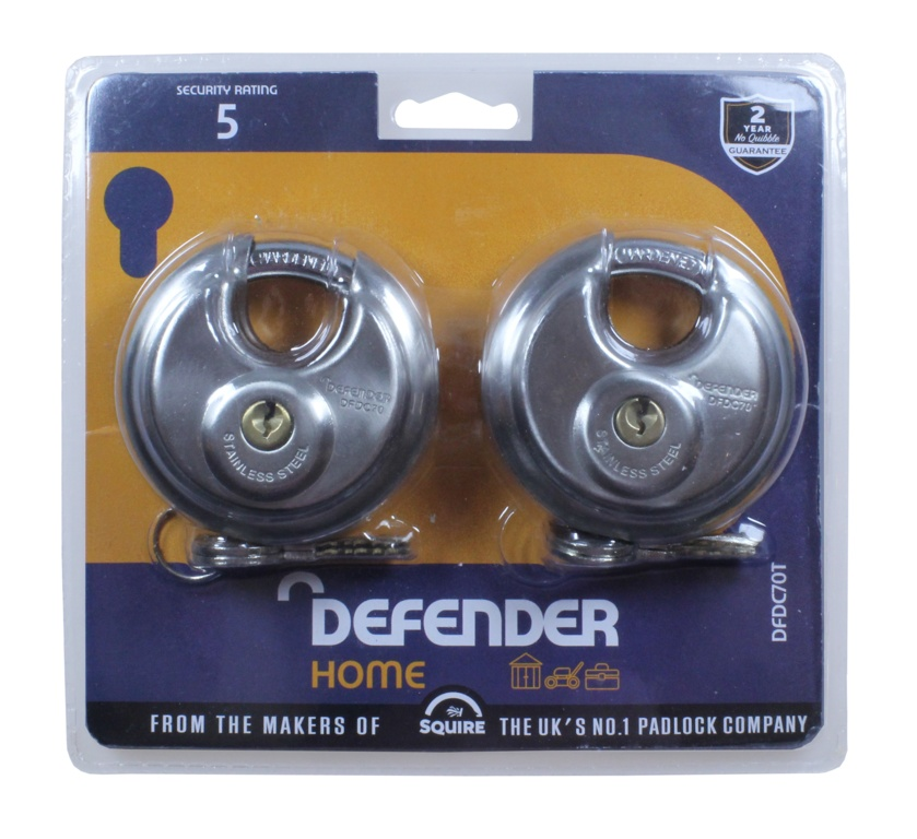 Defender Discuss Padlock - 70mm