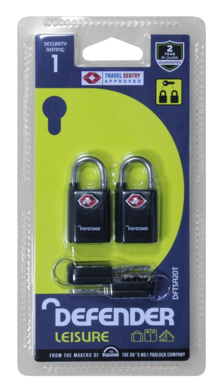 Defender Travel Padlocks Twinpack - 20mm