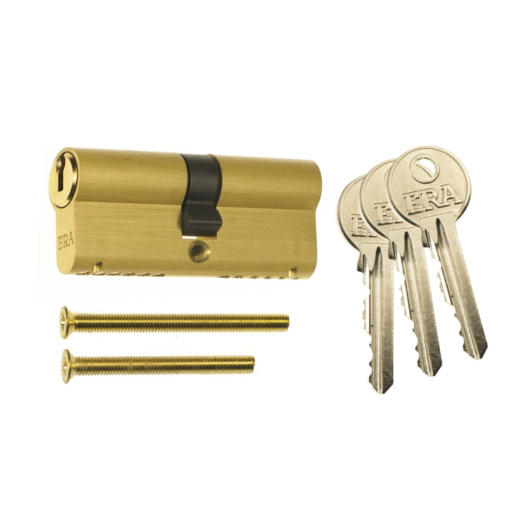 Era Euro Double 6 Pin Cylinder - 45/55 Brass Clam