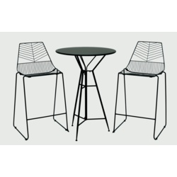 Premier Ravenna Black Bistro Bar Set