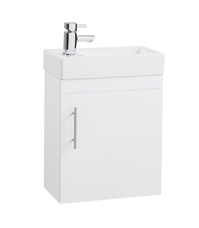 Cassellie Wall Hung White Cube Unit & Basin - 400mm