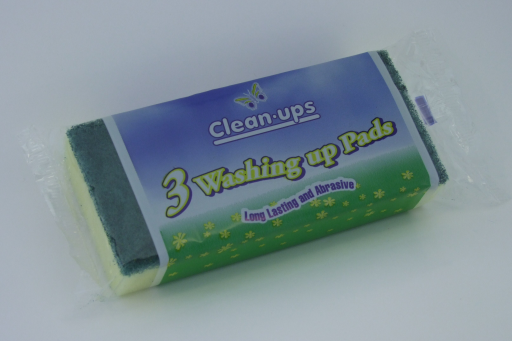 Clean Ups Washing Up Pads - Pack 3