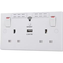 BG 2 Gang Switched Socket Wifi Extender