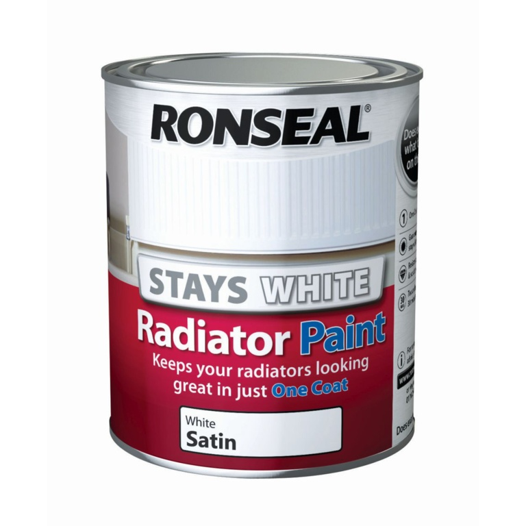 Ronseal One Coat Radiator Paint Satin - 750ml White