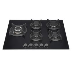 Kitchenplus Gas Burners On Black Glass Hob