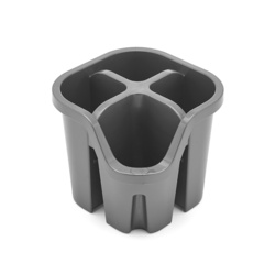 Whitefurze 5L Cleaning Bucket Black Grey With Handle
