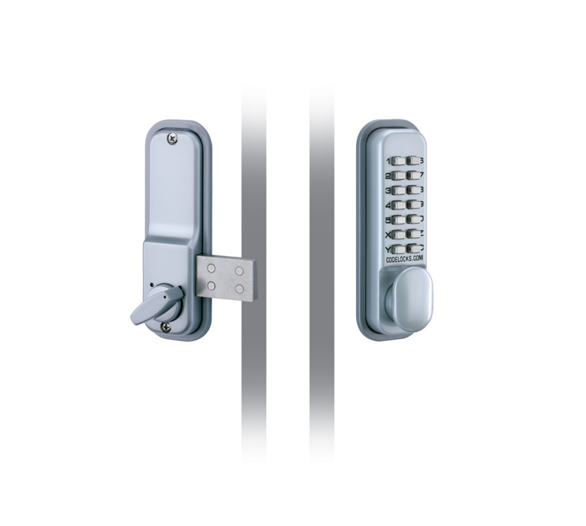 Codelocks Mechanical Deadlock With Surface Mounted Deadbolt - Silver 43mm