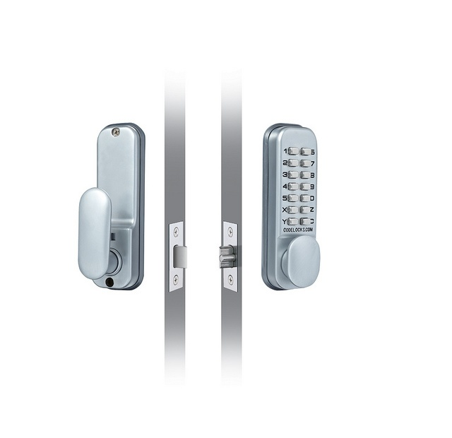 Codelocks Mechanical Deadlock With Mortice Latch - Silver 60mm