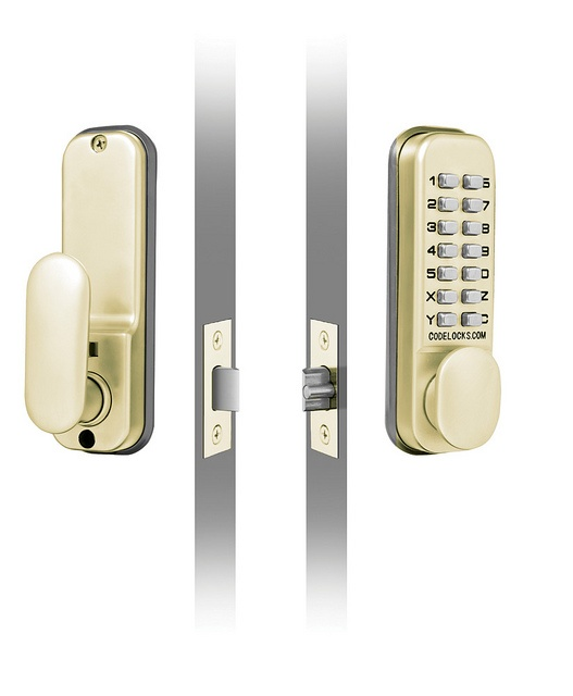 Codelocks Mechanical Deadlock With Mortice Latch - Brass 60mm