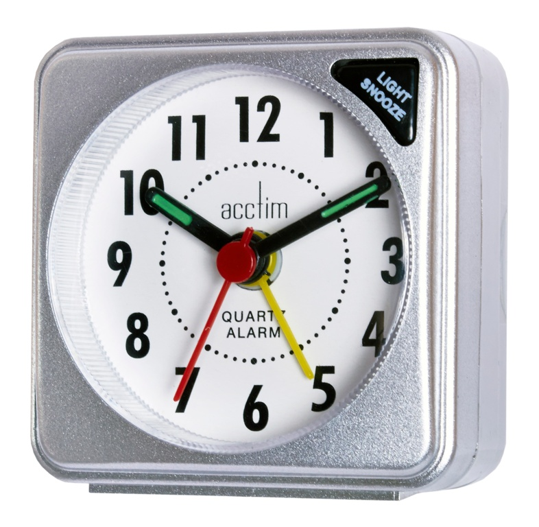 Acctim Ingot Mini Alarm Clock - Silver