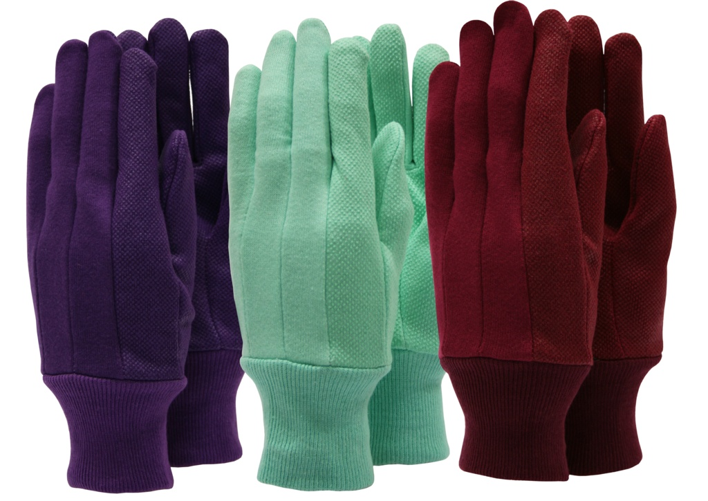 Town & Country Ladies Cotton Jersey Gloves - Triple Pack