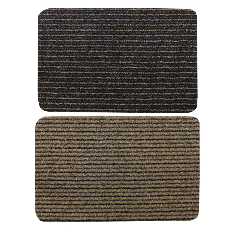 JVL Infinity Scraper Mat 50x75cm - Brown Stripe or Beige Stripe