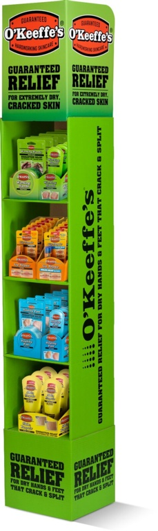 O'Keeffe's Floor Stand Mixed Display