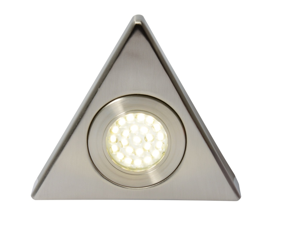 Culina Fonte LED Mains Voltage Triangular Cabinet Light - 3000k Warm White