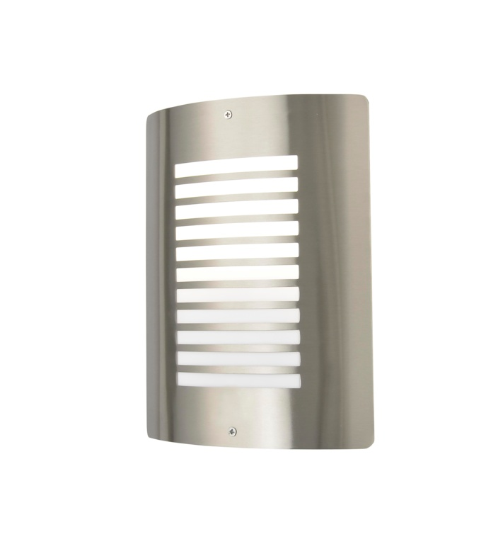 Zink Slatted Wall Light - Stainless Steel