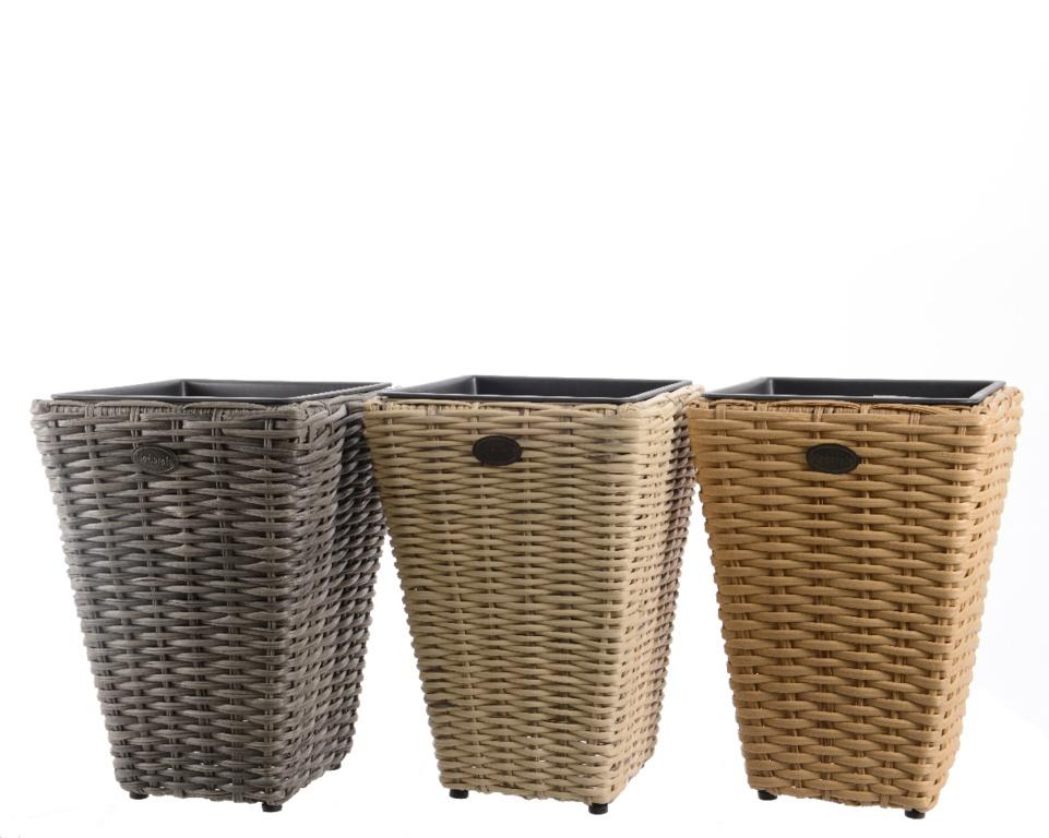 Kaemingk Polyrattan Planter Stack - 28x28x40
