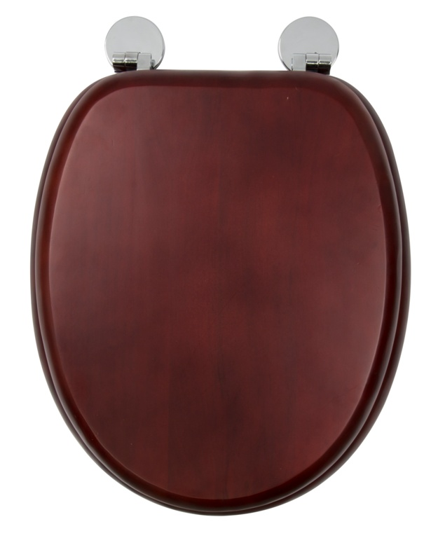 Croydex Flexi-Fix Toilet Seat - Davos Mahogany