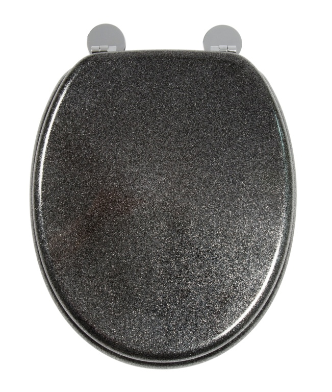 Croydex Flexi-Fix Toilet Seat - Quartz Black