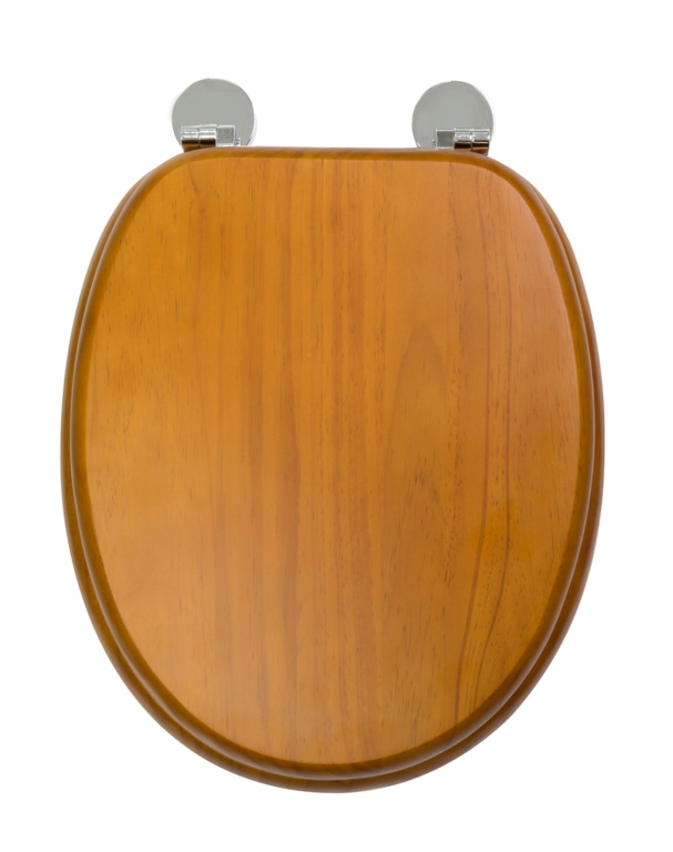 Croydex Flexi-Fix Toilet Seat - Davos Antique Pine