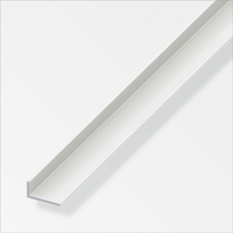 Alfer Angle Unequal-Sided White PVC - 30mmx20mm