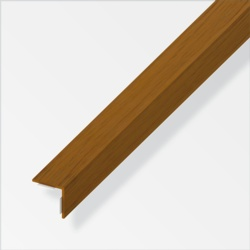 Rothley Equal Angle Oak Effect Plastic 20mmx20mmx1m