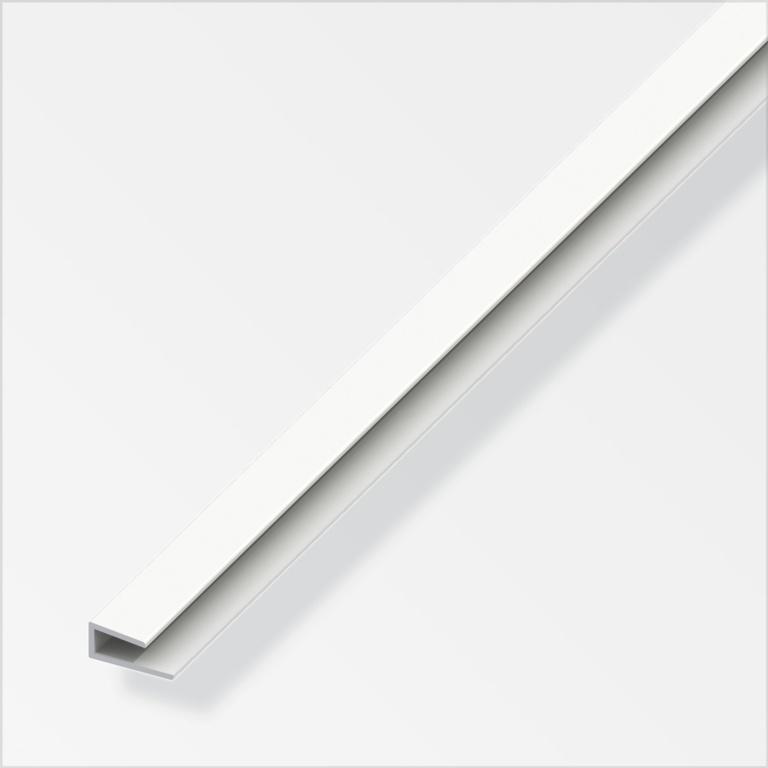 Alfer Edge Profile White PVC - 1m