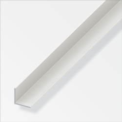 Rothley Alfer Equal Angle White PVC 10mmx10mmx1m