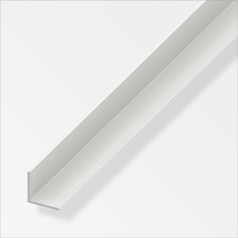 Alfer Equal Angle White PVC - 25mmx25mmx1m