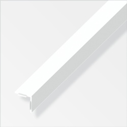 Rothley Equal Angle White Plastic 20mmx20mmx2.5m
