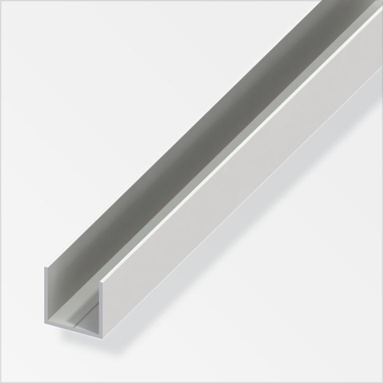 Alfer U White PVC - 15.5mmx15.5mmx1m