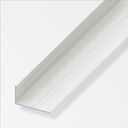 Rothley Unequal Angle White Plastic 19.5mmx35.5mmx1m