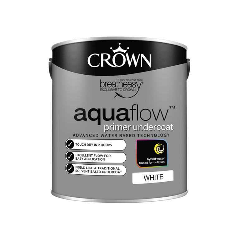 Crown Aquaflow Undercoat 2.5L - White