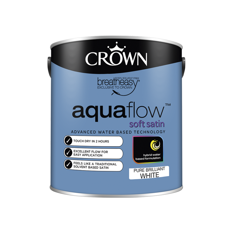 Crown Aquaflow Satin 2.5L - Brilliant White