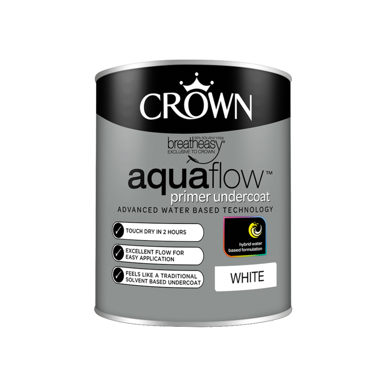 Crown Aquaflow Undercoat 750ml - White