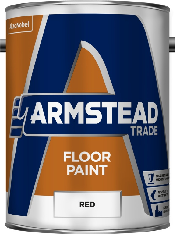 Armstead Trade Floor Paint - 5L Red
