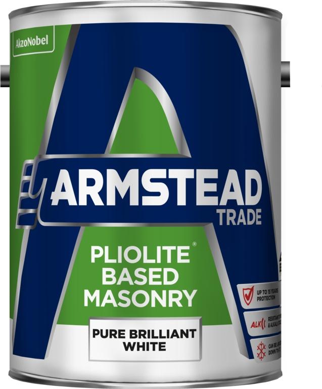 Armstead Trade Pliolite Masonry Paint - 5L Brilliant White