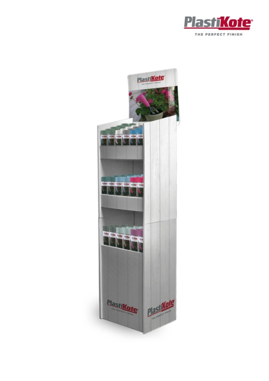 PlastiKote Garden Spray Stock Stand Deal - 72 Can Display