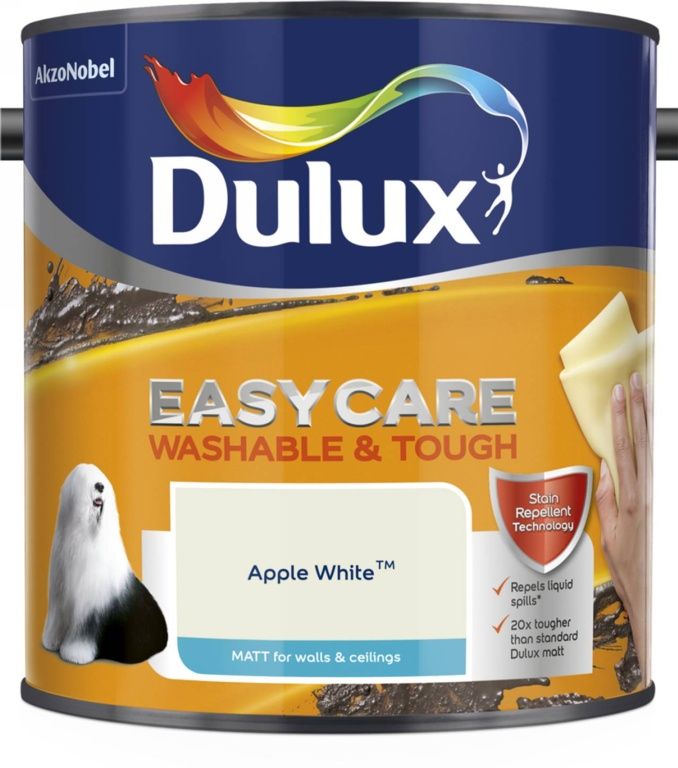 Dulux Easycare Matt 2.5L - Apple White