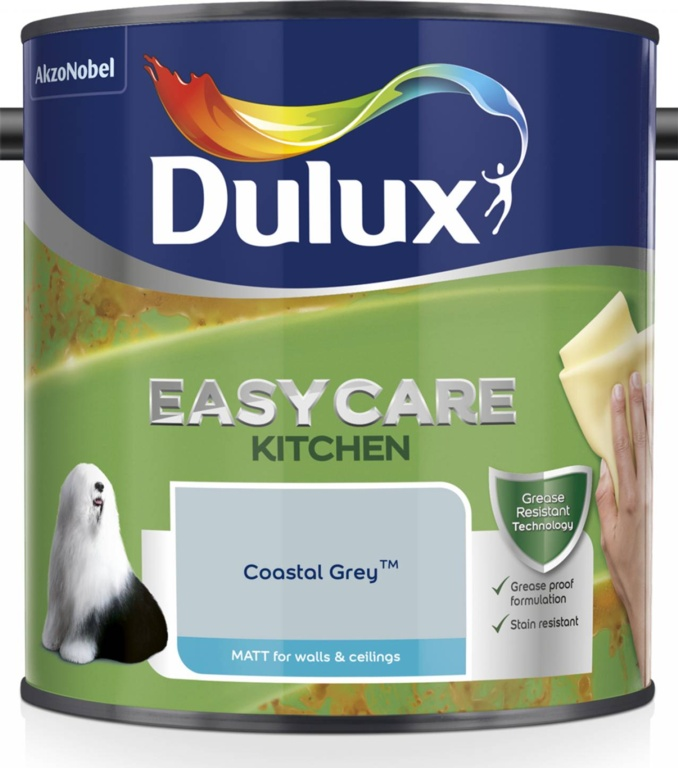 Dulux Easycare Kitchen Matt 2.5L - Coastal Grey