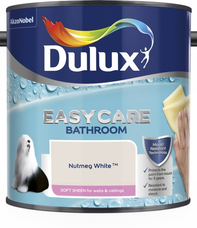 Dulux Easycare Bathroom Soft Sheen 2.5L - Nutmeg White