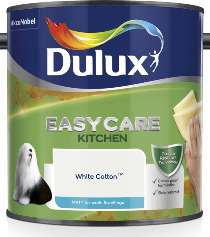 Dulux Easycare Kitchen Matt 2.5L - White Cotton
