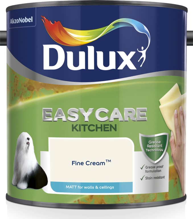 Dulux Easycare Kitchen Matt 2.5L - Fine Cream