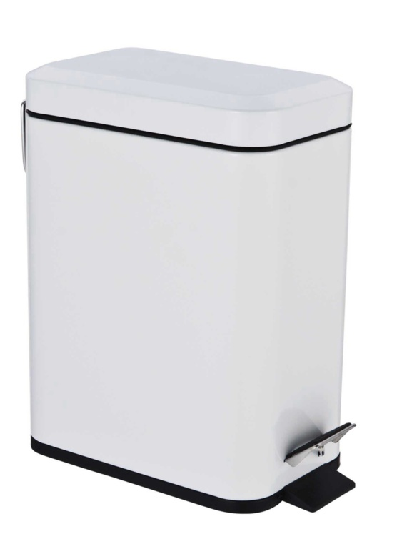 Blue Canyon Axus Rectangular Pedal Bin - White 5L