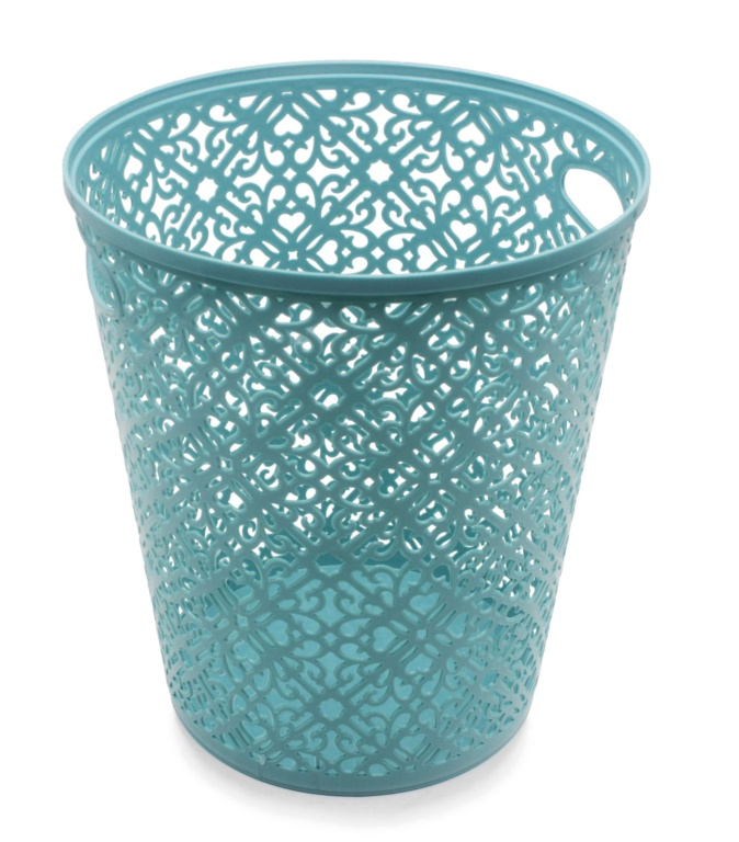 Blue Canyon Lace Plastic Waste Bin