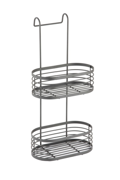 Blue Canyon 2 Tier Over Shower Screen Caddy - Grey