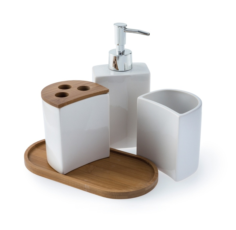 Blue Canyon Aria Bath Accessory Set - White 4 Piece