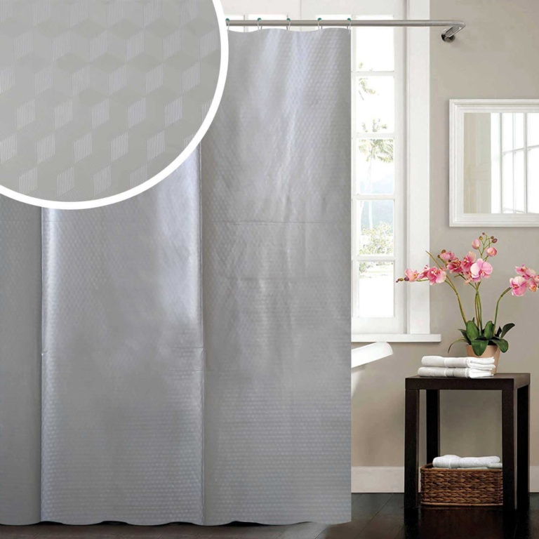 Blue Canyon Cube Peva Shower Curtain