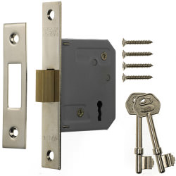 Era 3 Lever Mortice Deadlock 63mm - Finish: Chrome Effect