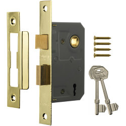 Era 3 Lever Mortice Sashlock 63mm - Finish: Brass Effect