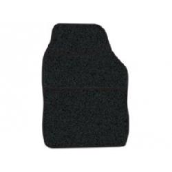 Streetwize Velour Carpet Mat Sets with Binding - 4 Piece - Black/Black